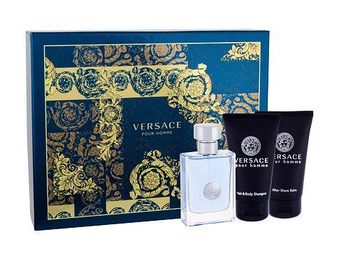 Versace Pour Homme EDT EDT 50 ml + sprchový gel 50 ml + balzám po holení 50 ml pro muže