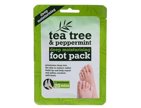 Xpel Tea Tree Tea Tree & Peppermint Deep Moisturising Foot Pack krém na nohy 1 ks pro ženy