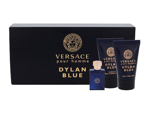 Versace Pour Homme Dylan Blue EDT EDT 5 ml + sprchový gel 25 ml + balzám po holení 25 ml pro muže