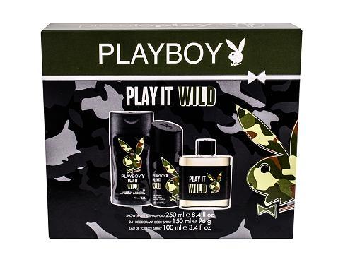 Playboy Play It Wild For Him EDT EDT 100 ml + sprchový gel 250 ml + deodorant 150 ml pro muže