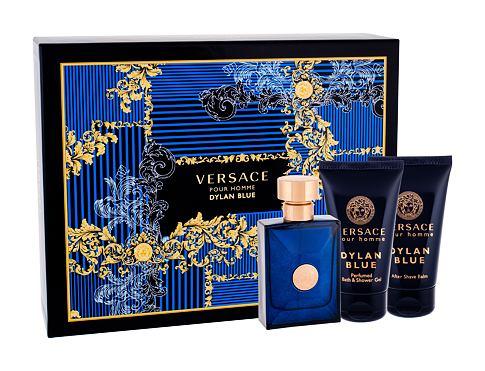 Versace Pour Homme Dylan Blue EDT EDT 50 ml + sprchový gel 50 ml + balzám po holení 50 ml pro muže