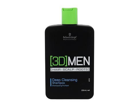 Schwarzkopf 3DMEN Deep Cleansing šampon 250 ml pro muže